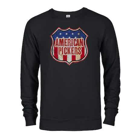 American Pickers Americana Lightweight Crew Neck Sweatshirt