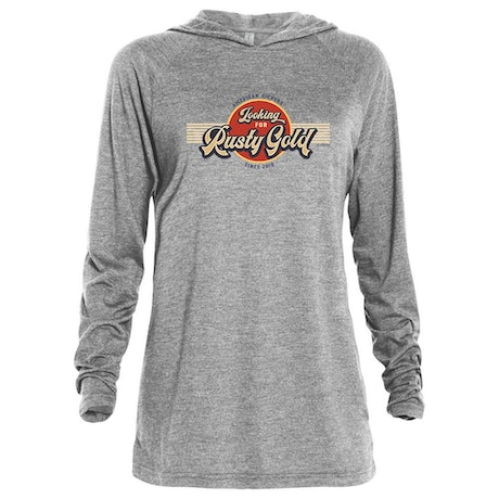 American Pickers Looking for Rusty Gold Circular Tri-Blend Raglan Hoodie