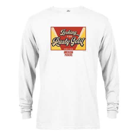 American Pickers Looking for Rusty Gold Long Sleeve T-Shirt