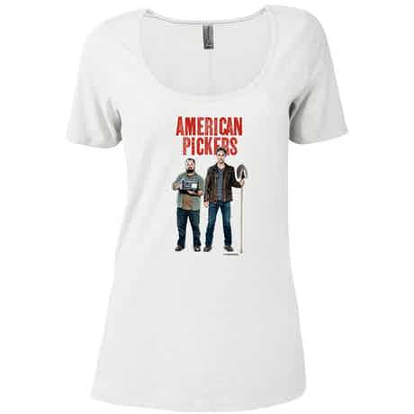 American Pickers Mike and Frank Women's Relaxed Scoop Neck T-Shirt
