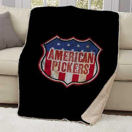 American Pickers Americana Sherpa Blanket