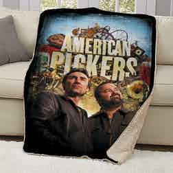 American Pickers Distressed Sherpa Blanket