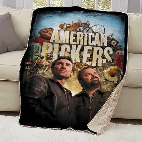 American Pickers Distressed Sherpa Blanket