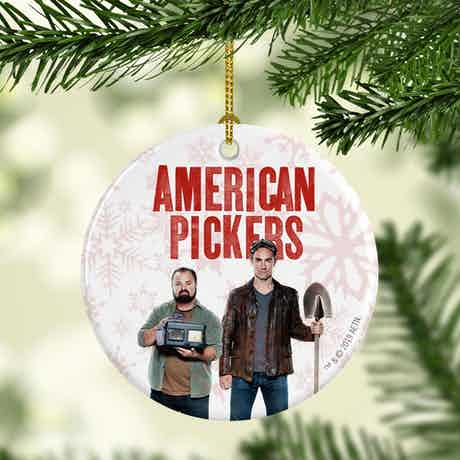 American Pickers Mike and Frank Double-Sided Ornament