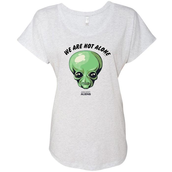 37e65bdaf Ancient Aliens We are Not Alone Women's Tri-Blend Dolman T-Shirt