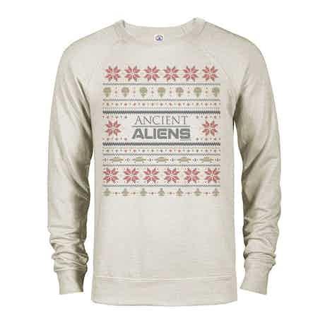 Ancient Aliens Holiday Sweatshirt Lightweight Crewneck Sweatshirt