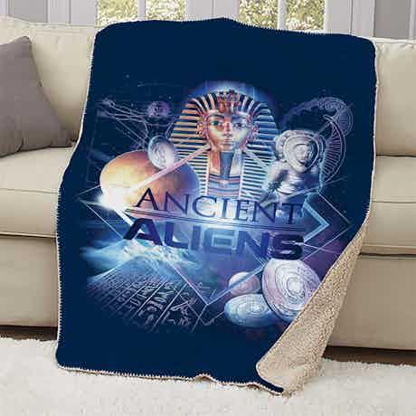 Ancient Aliens History of Man Sherpa Blanket