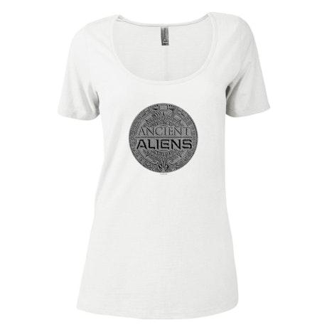 Ancient Aliens Symbol Logo Women's Relaxed Scoop Neck T-Shirt