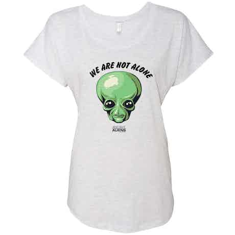 Ancient Aliens We are Not Alone Women's Tri-Blend Dolman T-Shirt