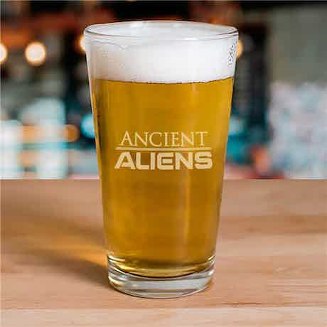 Ancient Aliens Etched Pint Glass