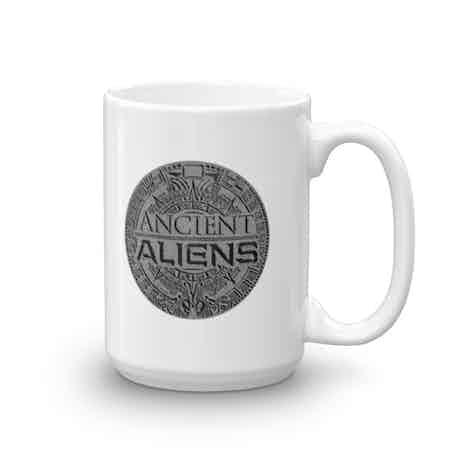 Ancient Aliens Symbol Logo White Mug