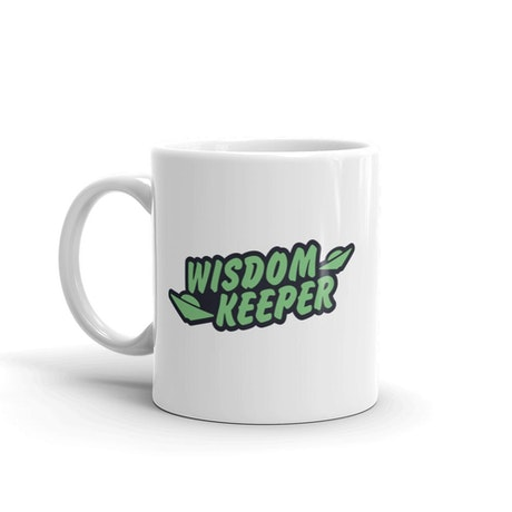 Ancient Aliens Wisdom Keeper White Mug