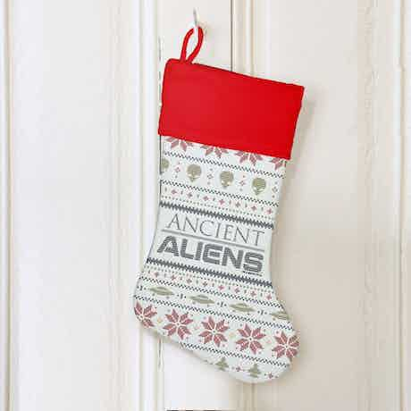 Ancient Aliens Holiday Stocking