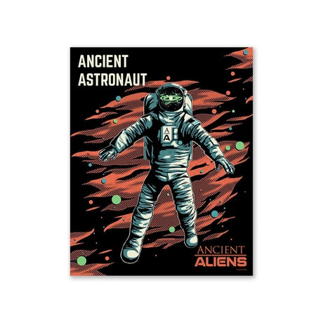 "Ancient Aliens Astronaut Poster - 16"" X 20"""