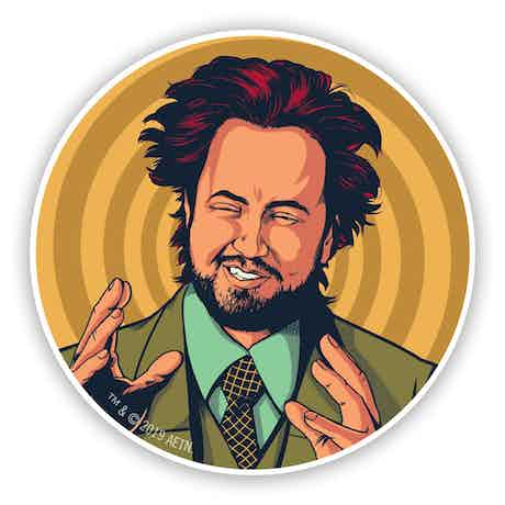 Ancient Aliens Giorgio Stickers