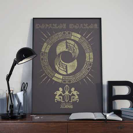 "Ancient Aliens Glyphs Poster - 18"" x 24"""