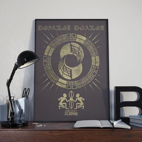 "Ancient Aliens Glyphs Poster - 18"" x 24"""