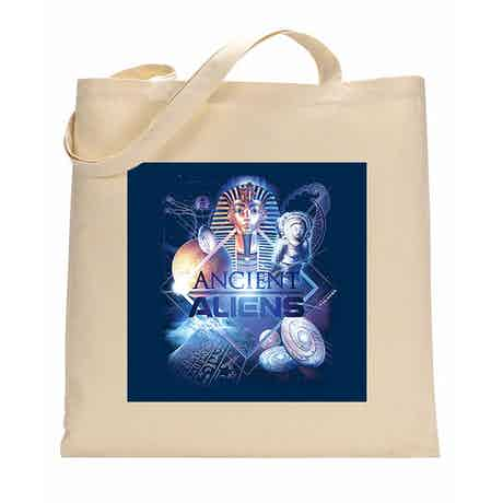 Ancient Aliens History of Man Canvas Tote Bag