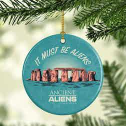 Ancient Aliens It Must Be Aliens Double-Sided Ornament