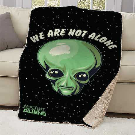 Ancient Aliens We are Not Alone Sherpa Blanket