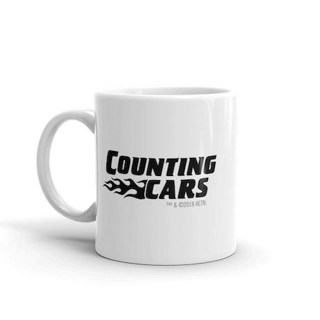 Counting Cars Logo White Mug