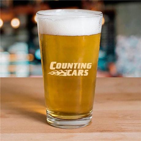 Counting Cars Logo 16oz Pint Glas