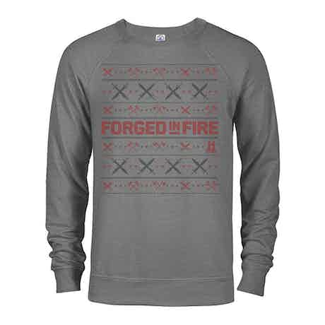 HISTORY Forged in Fire Series Holiday Lightweight Crewneck Sweatshirt