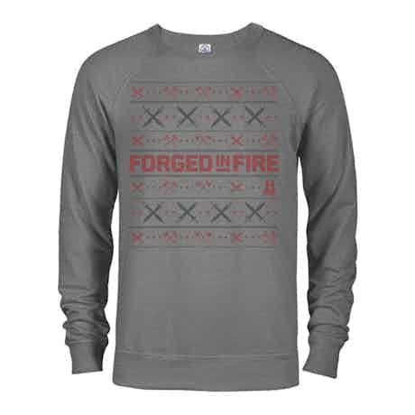 HISTORY Forged in Fire Series Holiday Sweatshirt Lightweight Crewneck Sweatshirt