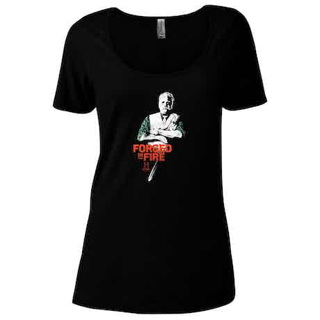 HISTORY Forged In Fire Series David Women's Relaxed Scoop Neck T-Shirt