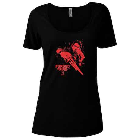 HISTORY Forged In Fire Series Doug Women's Relaxed Scoop Neck T-Shirt