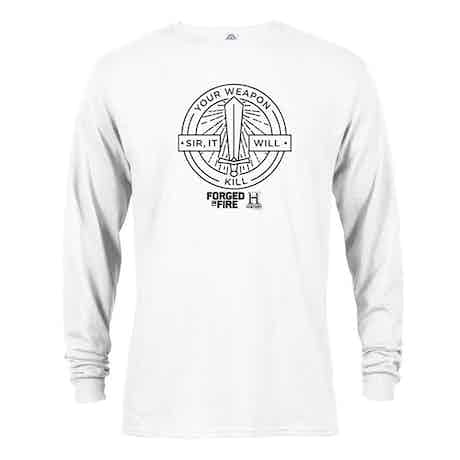 HISTORY Forged In Fire Series It Will Kill Long Sleeve T-Shirt