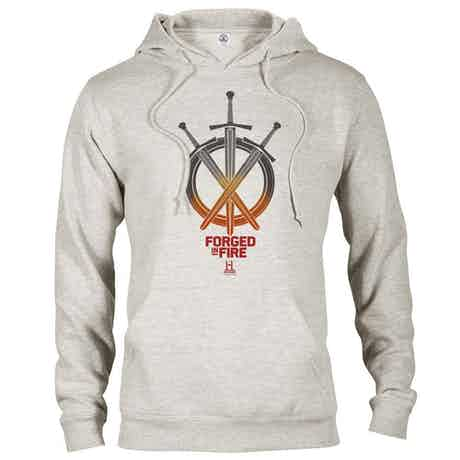 Forged in Fire Swords Hooded Sweatshirt-Oatmeal-Large
