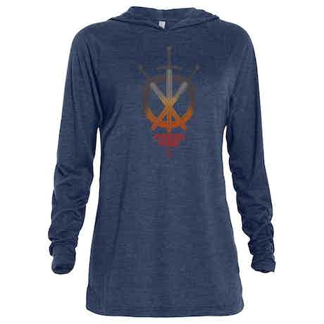 HISTORY Forged In Fire Series Swords Tri-blend Raglan Hoodie