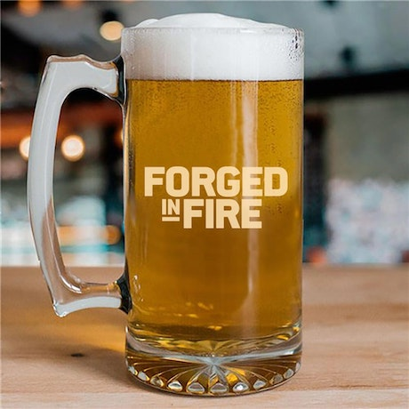 Forged in Fired 25oz Beer Glass