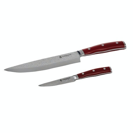 Forged in Fire 8  Inch Chef and 3.5 Inch Paring Knife 2 Pc Set