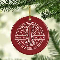 Forged in Fire It Will Kill Double-Sided Ornament