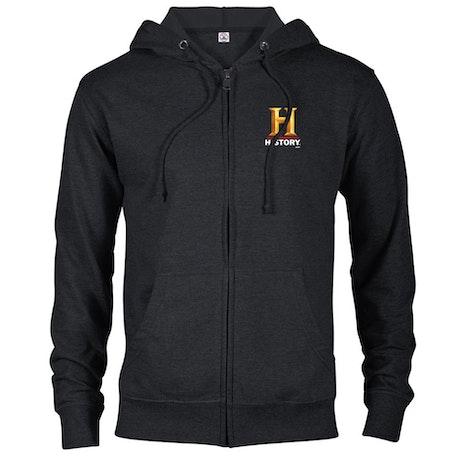 HISTORY Logo Lightweight Zip Up Hooded Sweatshirt