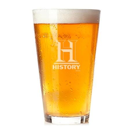 HISTORY Logo Pint Glass