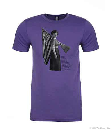 Women's Suffrage Short Sleeve T-Shirt with Susan B. Anthony Quote