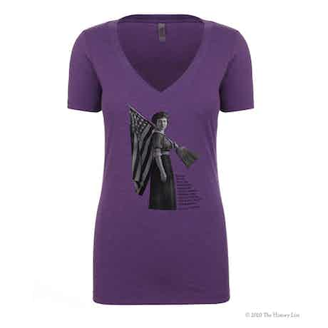 Women's Suffrage V-Neck T-Shirt with Susan B. Anthony Quote