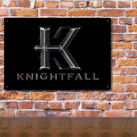 Knightfall Logo Metal Sign