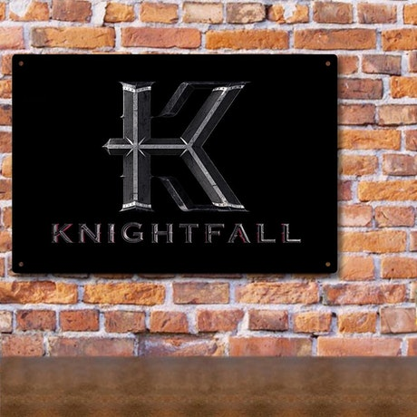 Knightfall Logo Metal Sign