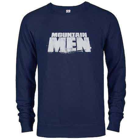 Mountain Men Logo Lightweight Crew Neck Sweatshirt