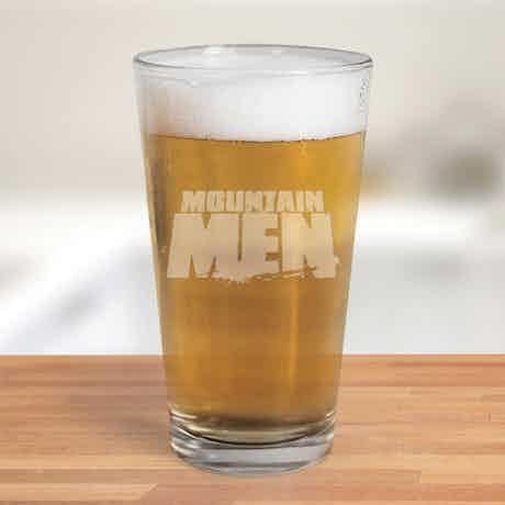 Mountain Men Logo 16 oz Pint Glass