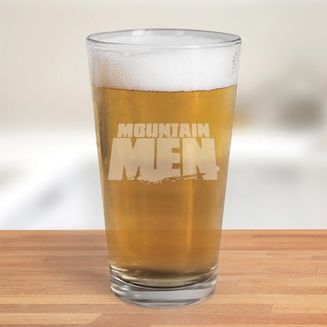 Mountain Men Logo 16oz Pint Glass