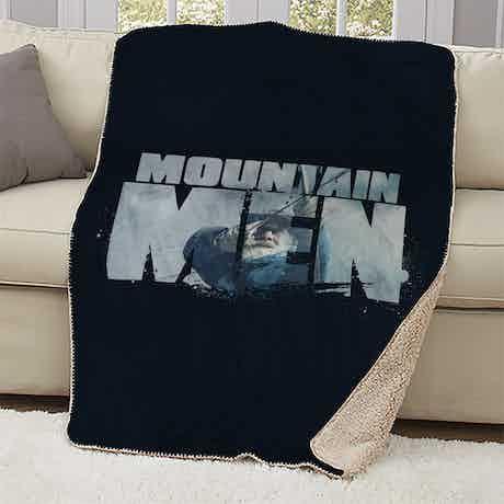 Mountain Men Tom Oar Logo Sherpa Blanket