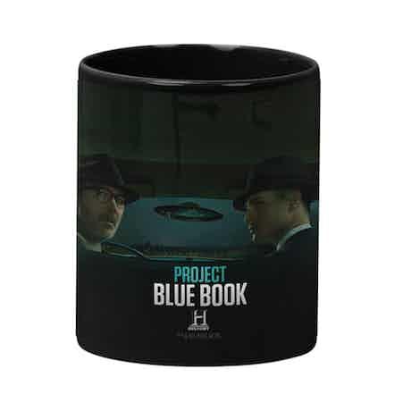 Project Blue Book Black Mug