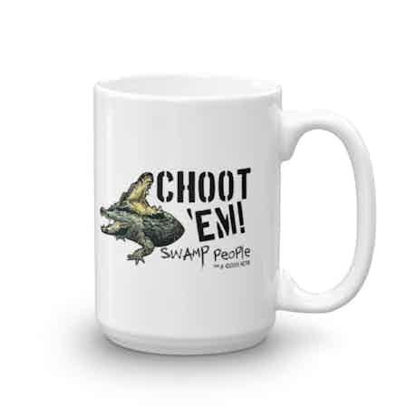 """Swamp People """"Choot 'Em!"""" White Mug"""