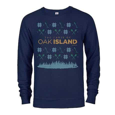 The Curse of Oak Island Holiday Sweatshirt Lightweight Crewneck Sweatshirt