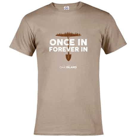 The Curse of Oak Island Once In, Forever Men's Short Sleeve T-Shirt